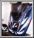 Airbrushed snowmobiles